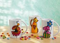 Porzellanmalerei Tiere auf Tassen